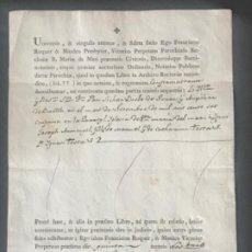Documentos antiguos: MANUSCRITO DEFUNCIÓN , SANTA MARÍA DEL MAR BARCELONA 1807. FIRMA. . Lote 197973813