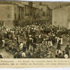 Documentos antigos: BENISANET- (TARRAGONA)- UN DETALLE DEL MERCADO-14 X 9 CM.. Lote 198025432
