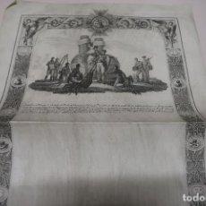 Documents Anciens: DOCUMENTO REAL PARA CONCESIÓN CRUZ ORDEN DE ISABEL LA CATÓLICA. DIB. J.RIBELLES, GRAB. E. BOIX. . Lote 198043777