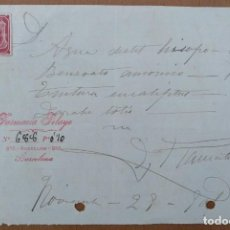 Documentos antiguos: RECETA FARMACIA PELAYO CALLE ROSELLON BARCELONA 1901(1). Lote 198296628
