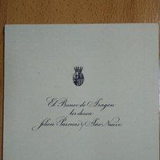 Documentos antiguos: FELICITACION NAVIDAD BANCO DE ARAGON. 1946-1947. IGLESIA DE LOS DOMINICOS, CALATAYUD, ZARAGOZA.. Lote 198462078