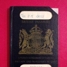 Documentos antiguos: PASAPORTE DEL REINO UNIDO 1947, PASAPORTE INGLES, PASSPORT, PASSEPORT,REISEPASS. Lote 198494637