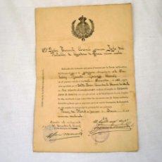 Documentos antiguos: DOCUMENTO MILITAR. Lote 198541068