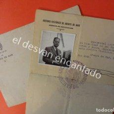 Documentos antiguos: ARENYS DE MAR. CREDENCIAL DEL ARCHIVO HISTORICO. AÑOS 1940S. Lote 198601215