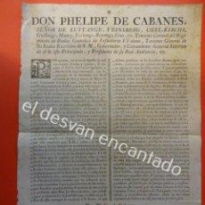 Documentos antiguos: ANTIGUO BANDO O EDICTO. CIUDAD DE BARCELONA. ORIGINAL AÑO 1777. Lote 198601847