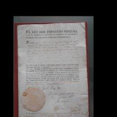 Documentos antiguos: EL REY DON FERNANDO SÉPTIMO Y EN SU AUSENCIA Y CAUTIVIDAD LA REGENCIA DE LAS ESPAÑA NOMBRADAS .... Lote 198606420