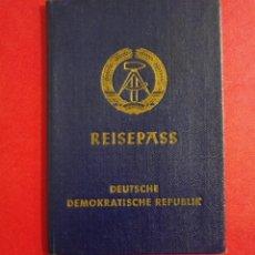 Documentos antiguos: PASAPORTE DE ALEMANIA 1974 DDR, GUERRA FRIA, PASSPORT, PASSEPORT,REISEPASS. Lote 198632825