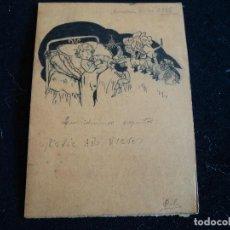 Documentos antiguos: FELICITACION HECHA A MANO NIÑA FELICITA AÑO NUEVO 1943 FIRMA VICTORIA. Lote 198683835