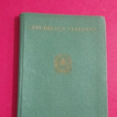 Documentos antiguos: PASAPORTE DE ITALIA 1966, PASSPORT, PASSEPORT,REISEPASS. Lote 198763325