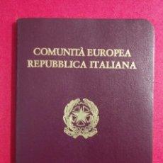 Documentos antiguos: PASAPORTE DE ITALIA 1989, PASSPORT, PASSEPORT,REISEPASS. Lote 198768556