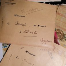 Documentos antiguos: CONSULADO FRANCIA EN ALICANTE DOCUMENTOS VARIOS AÑOS 30. Lote 199237101