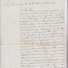 Documentos antiguos: VILLABÁÑEZ, VALLADOLID. JOSÉ JALÓN, VECINO DE VALDETRONCO COMPRA TIERRAS AL ESTADO. 1870. Lote 199332652