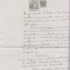 Documentos antiguos: MAESTRO REPRESALIADO PIDE CERTIFICADO DE BUEN CONDUCTA AL ALCALDE DE MAGÁN, TOLEDO. 1951. Lote 199336031