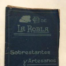 Documentos antiguos: FERROCARRILES DE LA ROBLA,ESTUDIO ORIGINAL PARA LOS SOBRESTANTES Y ARTISTA.AÑO 1936. Lote 199379228