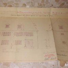 Documentos antiguos: LOTE DE PLANOS DE CONSTRUCCION ALEMANES, EPOCA III REICH, AÑO 1939. Lote 199451466