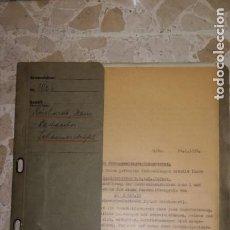 Documentos antigos: CARPETA DOCUMENTOS ALEMANES, EPOCA III REICH, AÑO 1938 Y 1939. Lote 199451755
