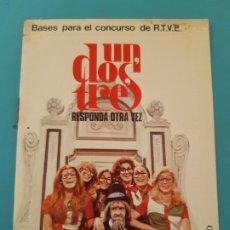 Documents Anciens: SOBRE CARTA. PARA EL CONCURSO DE TV, UN DOS TRES RESPONDA OTRA VEZ, DON CICUTA, RUPERTA. Lote 199558931