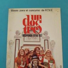 Documents Anciens: SOBRE CARTA. PARA EL CONCURSO DE TV, UN DOS TRES RESPONDA OTRA VEZ, DON CICUTA, RUPERTA. Lote 199558952