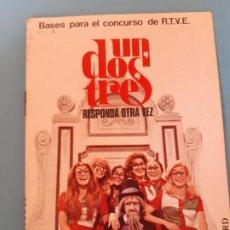 Documents Anciens: SOBRE CARTA. PARA EL CONCURSO DE TV, UN DOS TRES RESPONDA OTRA VEZ, DON CICUTA, RUPERTA. Lote 199577371