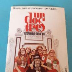 Documents Anciens: SOBRE CARTA. PARA EL CONCURSO DE TV, UN DOS TRES RESPONDA OTRA VEZ, DON CICUTA, RUPERTA. Lote 199577681