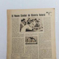 Documents Anciens: EN LAS ESCUELAS, EL MUSEO ESCOLAR DE HISTORIA NATURAL INIESTA, CUENCA, MADRID 1936. Lote 199584522