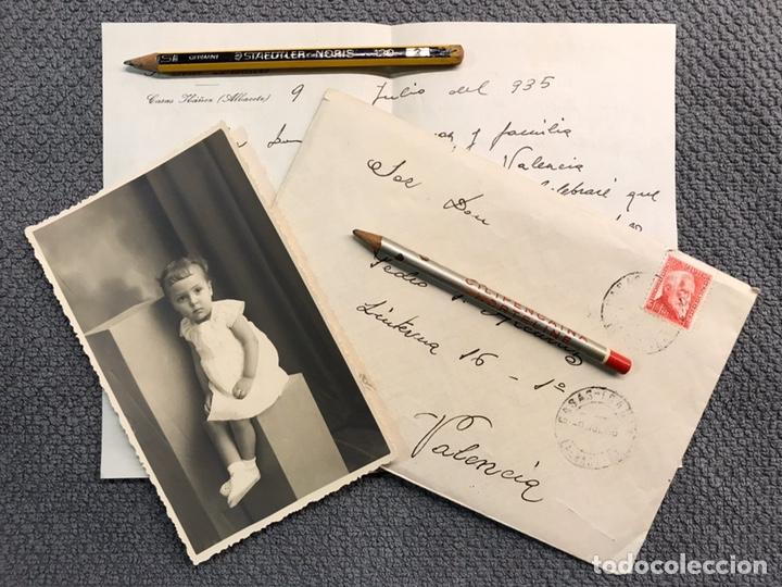 CASAS IBÁÑEZ (ALBACETE) SOBRE CIRCULADO, ESCRITO Y FOTOGRAFÍA. AÑO DE LA REPÚBLICA DE 1935 (Coleccionismo - Documentos - Otros documentos)