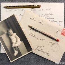 Documentos antiguos: CASAS IBÁÑEZ (ALBACETE) SOBRE CIRCULADO, ESCRITO Y FOTOGRAFÍA. AÑO DE LA REPÚBLICA DE 1935. Lote 199738255