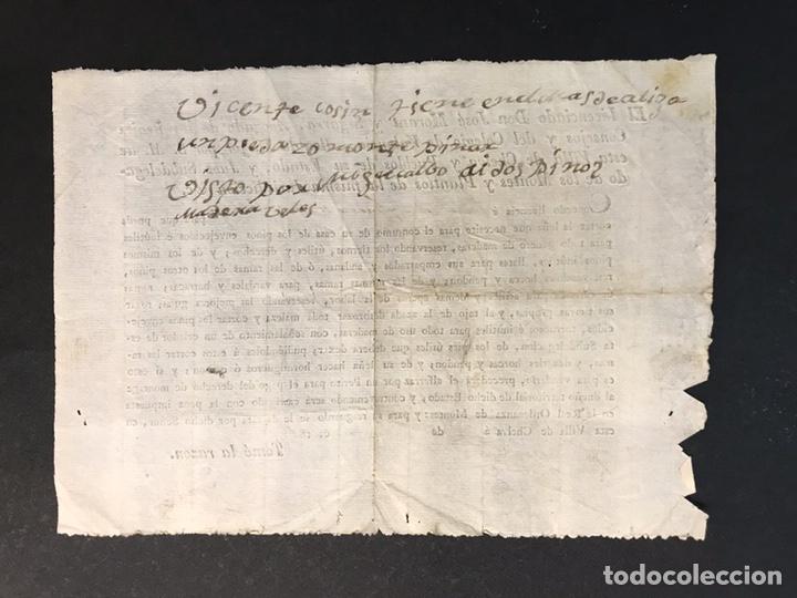 Documentos antiguos: CHELVA. concede licencia y permiso para la poda de pinos viejos.. para el consumo propio (a.1815) - Foto 2 - 199882238