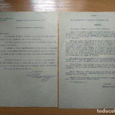 Documentos antiguos: CARTA DIRECTOR LOS TRANVIAS DE ZARAGOZA, AL EXCMO D. MANUEL ESCORIAZA, AÑO 1925. Lote 200382100