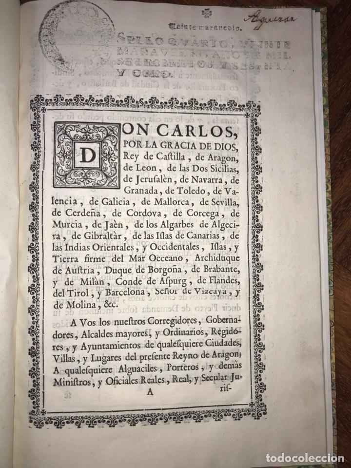 Documentos antiguos: HUESCA. PROVISIÓN EJECUTORIA DE INFANZONÍA JOSEPH DE ALQUEZAR Y PORTERIA. BARBASTRO, BARBUÑALES.1767 - Foto 2 - 200608598