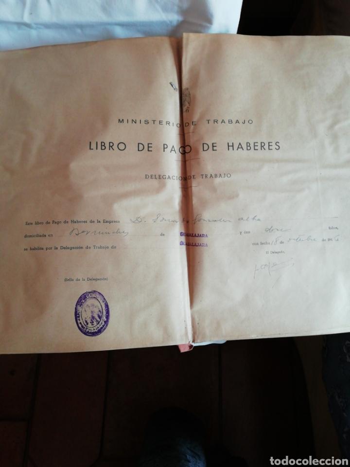 Documentos antiguos: Libro oficial pago de haberes 1946 - Foto 3 - 200647061
