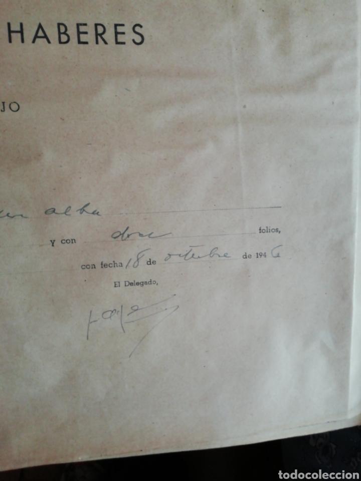 Documentos antiguos: Libro oficial pago de haberes 1946 - Foto 4 - 200647061