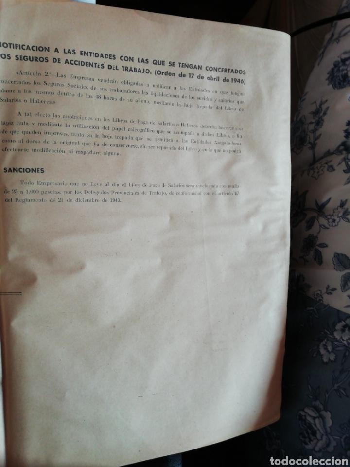 Documentos antiguos: Libro oficial pago de haberes 1946 - Foto 7 - 200647061