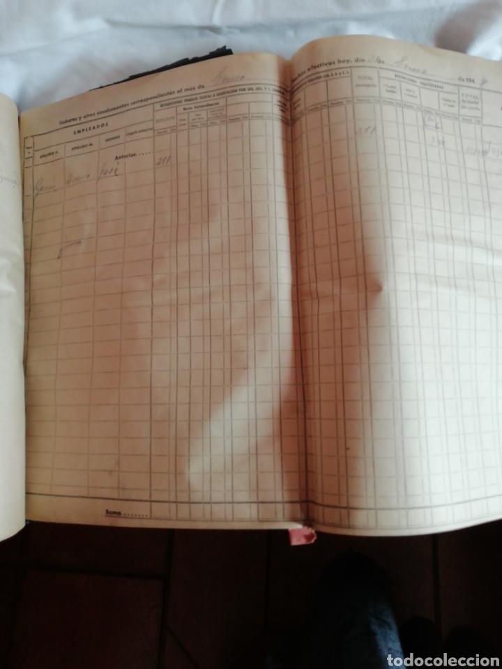 Documentos antiguos: Libro oficial pago de haberes 1946 - Foto 8 - 200647061