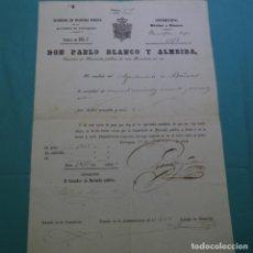 Documentos antiguos: DOCUMENTO CONTRIBUCIONES DE BAÑERAS(TARRAGONA).1958.HACIENDA PÚBLICA.PABLO BLANCO I ALMEIDA.. Lote 200727020