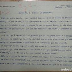 Documentos antiguos: FIRMA, A. MOMPEON MOTOS GERENTE HERALDO DE ARAGON MANUEL ESCORIAZA PRESIDENTE GRAN HOTEL ZARAGOZA. Lote 200750858