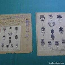 Documentos antiguos: DIBUJOS DE POLILLAS DE IGNASI SAGARRA I DE CASTELLARNAU(1889-1940). Lote 200771648