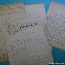 Documentos antiguos: DOCUMENTOS Y CARTAS DE IGNASI SAGARRA I DE CASTELLARNAU(1889-1940). Lote 200771687