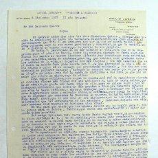Documentos antiguos: GIJÓN. ASTURIAS. GUERRA CIVIL. 1937. CARTA PERSONAL SOBRE LA EXPERIENCIA VIVIDA DURANTE LA GUERRA . Lote 200807302