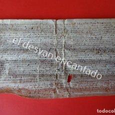 Documentos antiguos: DOCUMENTO CONCORDIA AÑO 1552. VALLE DE RUPIÁ (BAIX EMPORDÀ). PERGAMINO 34 X 18 CTMS. Lote 200826835