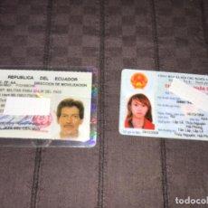 Documentos antiguos: 2 CARNETS DE VIETNAM Y ECUADOR MILITAR ... ZKR. Lote 200882117