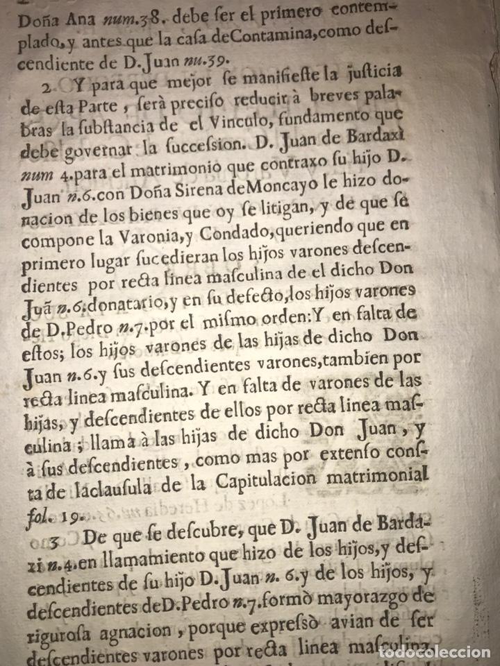 Documentos antiguos: 1729. HUESCA. CASTELFLORITE Y BARONÍA DE ANTILLÓN. BARDAXI LOPEZ DE HEREDIA MARQUÉS DE BARBOLES. - Foto 2 - 201286445