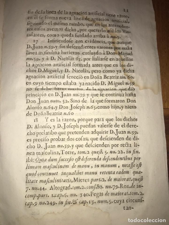 Documentos antiguos: 1729. HUESCA. CASTELFLORITE Y BARONÍA DE ANTILLÓN. BARDAXI LOPEZ DE HEREDIA MARQUÉS DE BARBOLES. - Foto 3 - 201286445