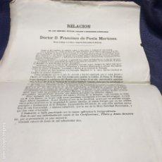 Documentos antiguos: MERITOS TITULOS GRADOS EJERCICIOS LITERARIOS TEOLOGO DE PAULA MARTINEZ UNIVERSIDAD GRANADA S XIX. Lote 201322322
