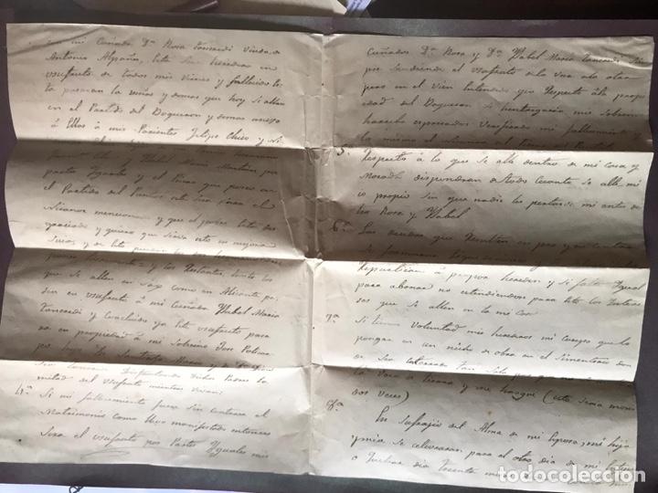 Documentos antiguos: Notariado. Pliego cerrado completo con testamento en el interior. 1857 - Foto 3 - 210085348