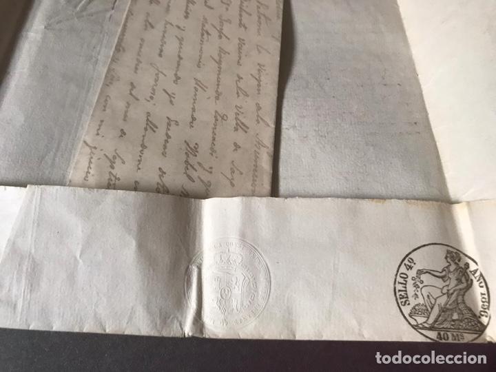Documentos antiguos: Notariado. Pliego cerrado completo con testamento en el interior. 1857 - Foto 4 - 210085348