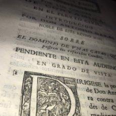 Documentos antiguos: 1744. POR LOS CONDES DE CONTAMINA SOBRE EL DOMINIO DE UNAS CASAS ZARAGOZA. ALONSO DE LA CAVALLERÍA.. Lote 201993830