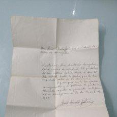 Documentos antiguos: JUSTIFICANTE MÉDICO GUERRA CIVIL. 1937. MADRID-ALMOGUERA. ALCALÁ GALIANO.. Lote 202075770