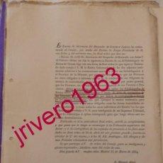 Documentos antiguos: 1834, OBLIGACION DE LOS PARROCOS SOBRE INFORMACION CONDUCTA DE SUS FELIGRESES,CONTRABANDO. Lote 202085137