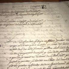 Documentos antiguos: CIRCA 1650. MANUSCRITO EN VALENCIANO. SINDICH DE POBRES, CONVENT DE LA PURITAT.. Lote 202373705